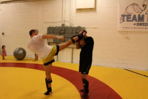 Uppvisning thaiboxning
